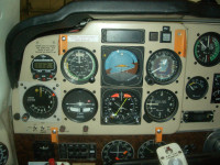 Read-outs from the cockpit of the OPL experimental plane.