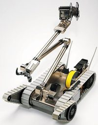 The packbot: one of iRobot's products for the military.