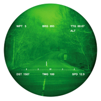 GPS data superimposed on see-through night-vision image.